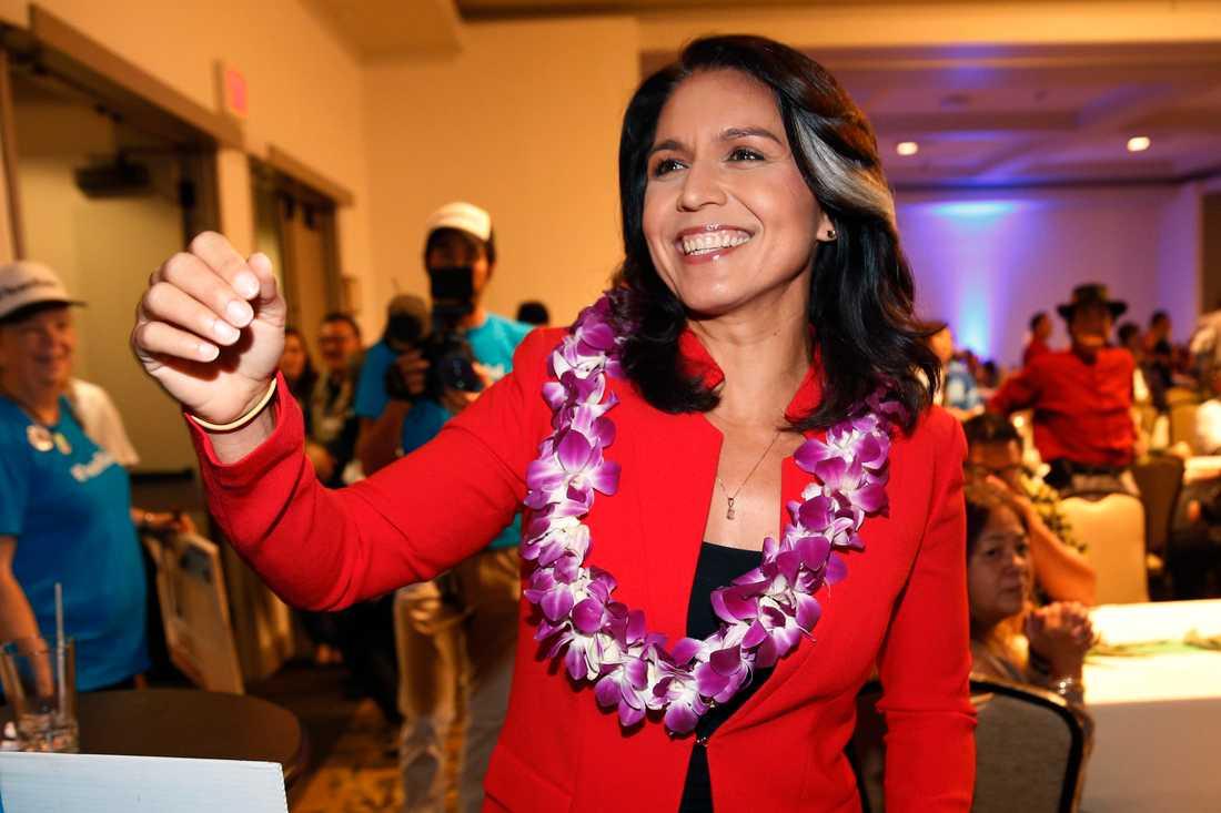 Tulsi Gabbard, demokratisk representanthusledamot från Hawaii som satsar på Vita huset.