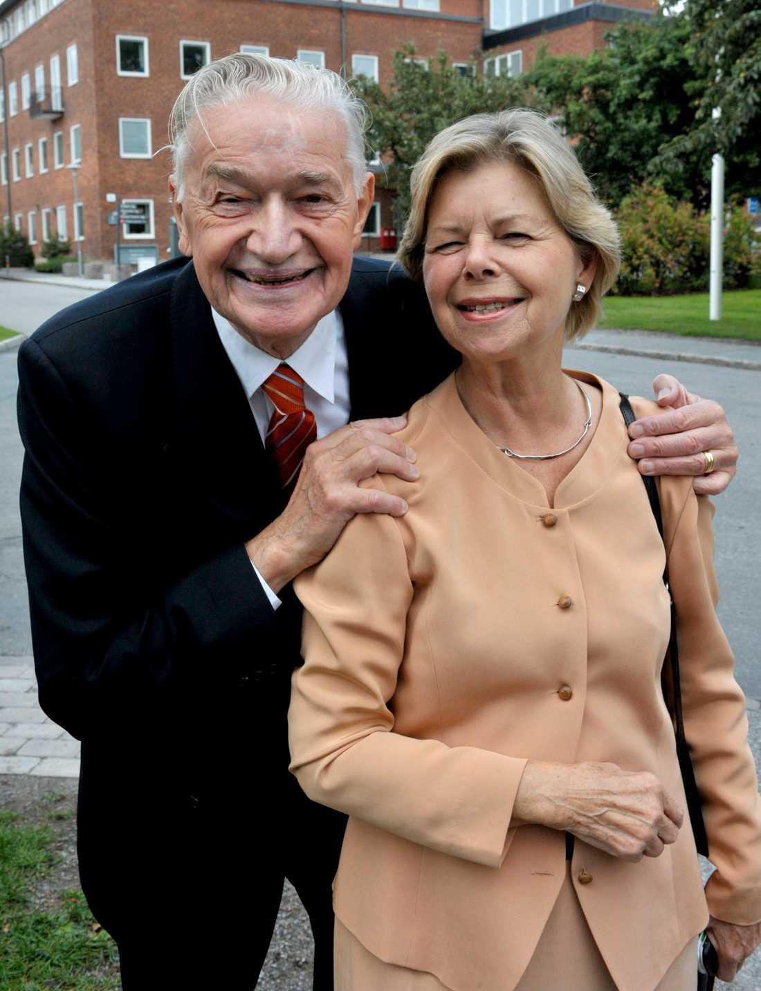 Lennart Nilsson tillsammans med hustrun Chatarina.