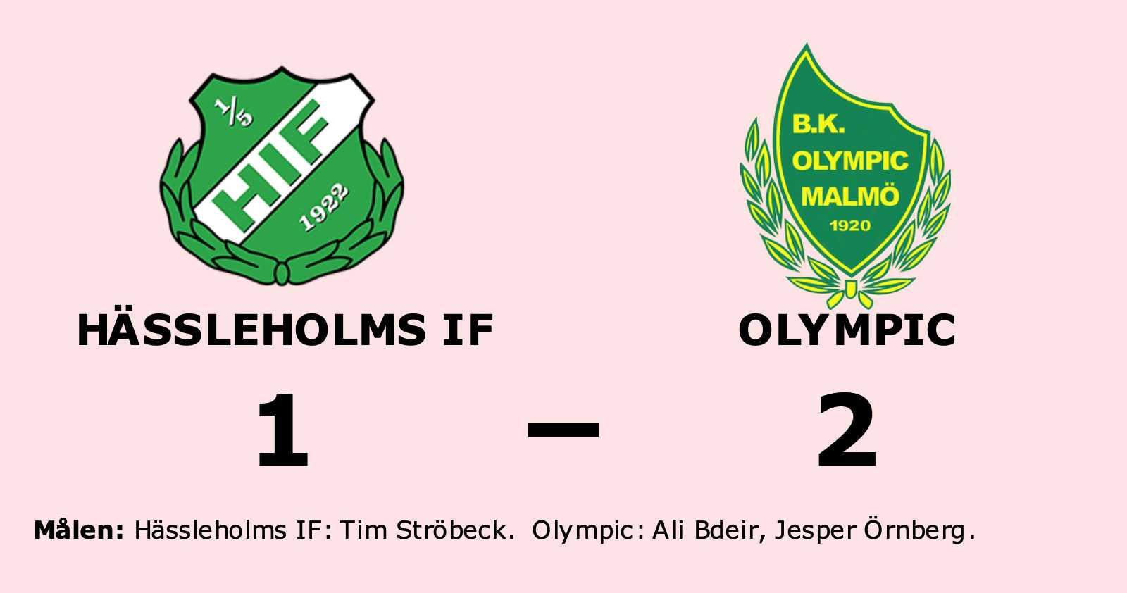 Olympic vann på bortaplan mot Hässleholms IF