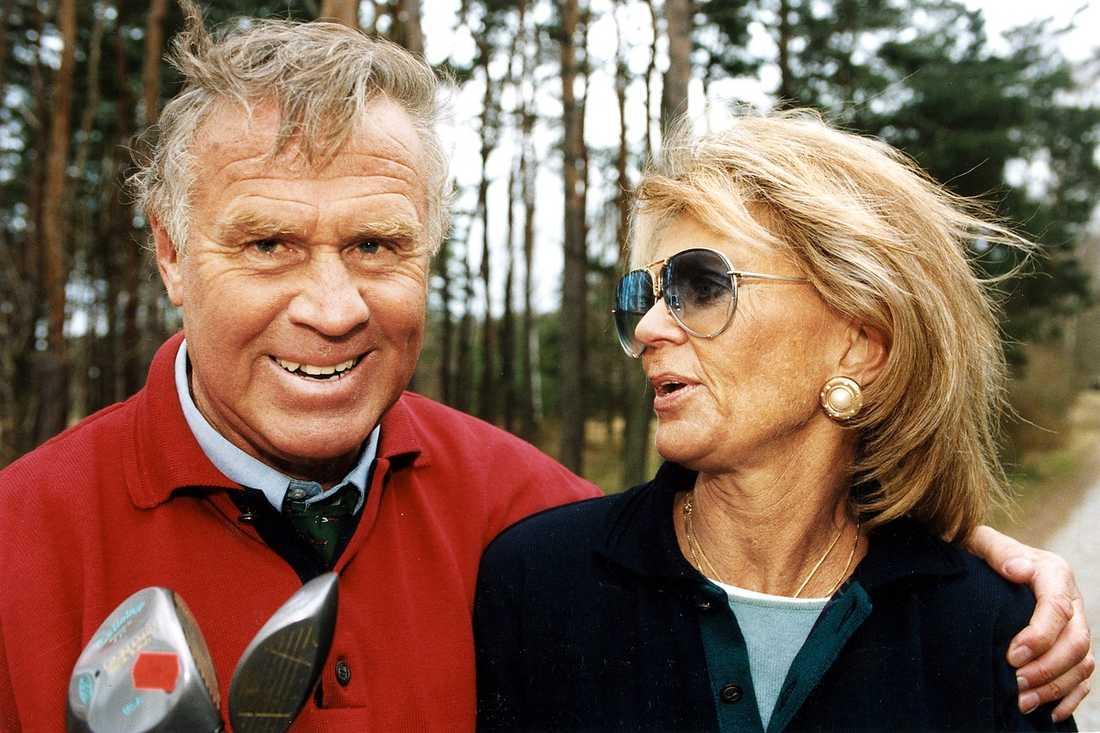 Sven Tumba tillsammans med barndomsvännen prinsessan Birgitta