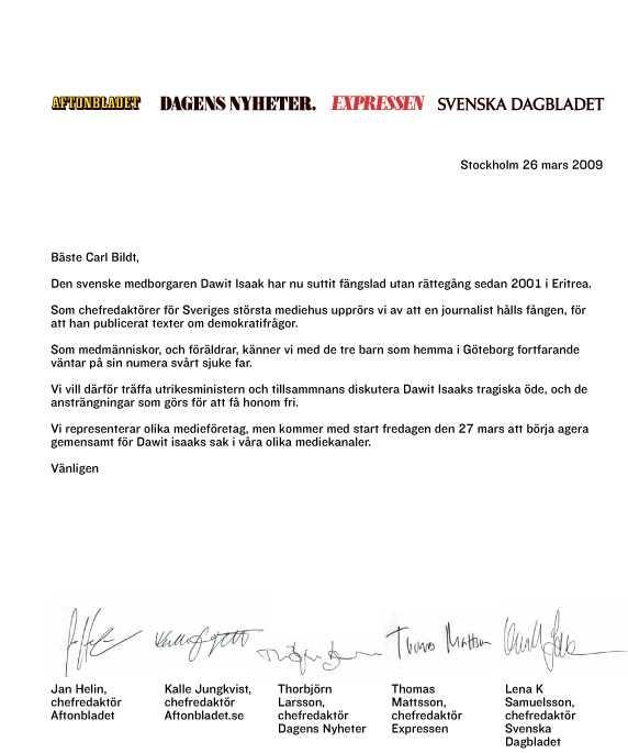 Läs brevet Som fick Bildt att gå med på ett möte. Klicka på bilden för att göra den större