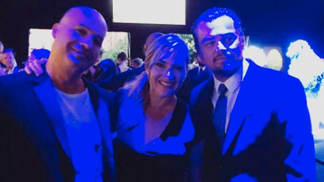 Billy Zane, Kate Winslet och Leonardo DiCaprio återförenade på en miljögala.