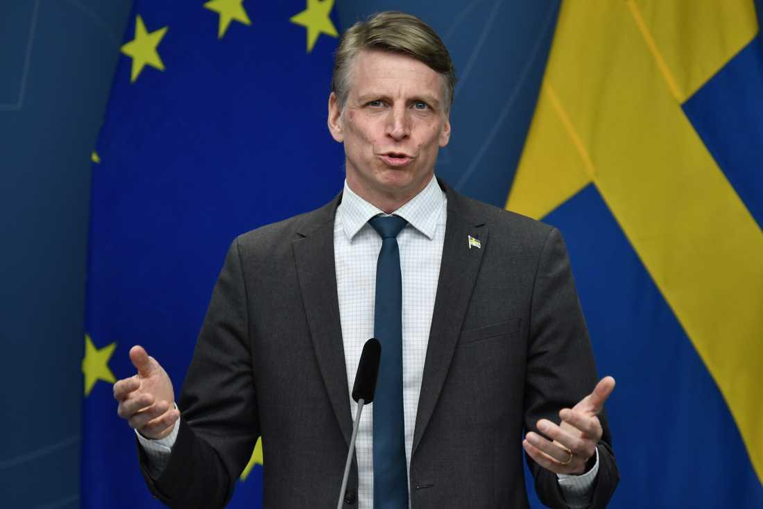 Miljö- och klimatminister Per Bolund (MP) deltog i ett rundabordssamtal om klimatet förra veckan, inbjuden av USA:s klimatsändebud John Kerry.