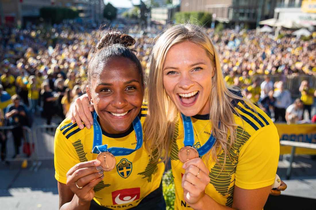 Janogy och Rolfö efter VM-bronset sommaren 2019