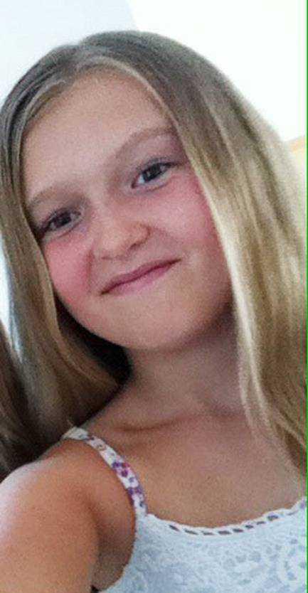 Ella Berg, 10, som tog bilden på de tre regnbågarna.