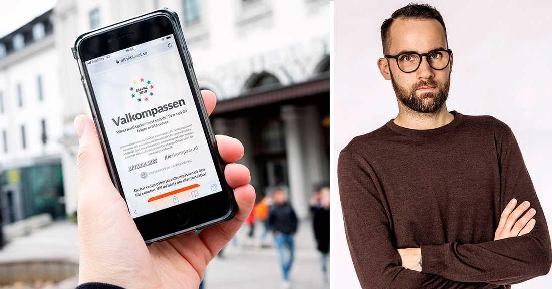 """""""Valkompassen hjälper väljarna att bli mer insatta"""", säger Aftonbladets projektledare Victor Lindbom."""