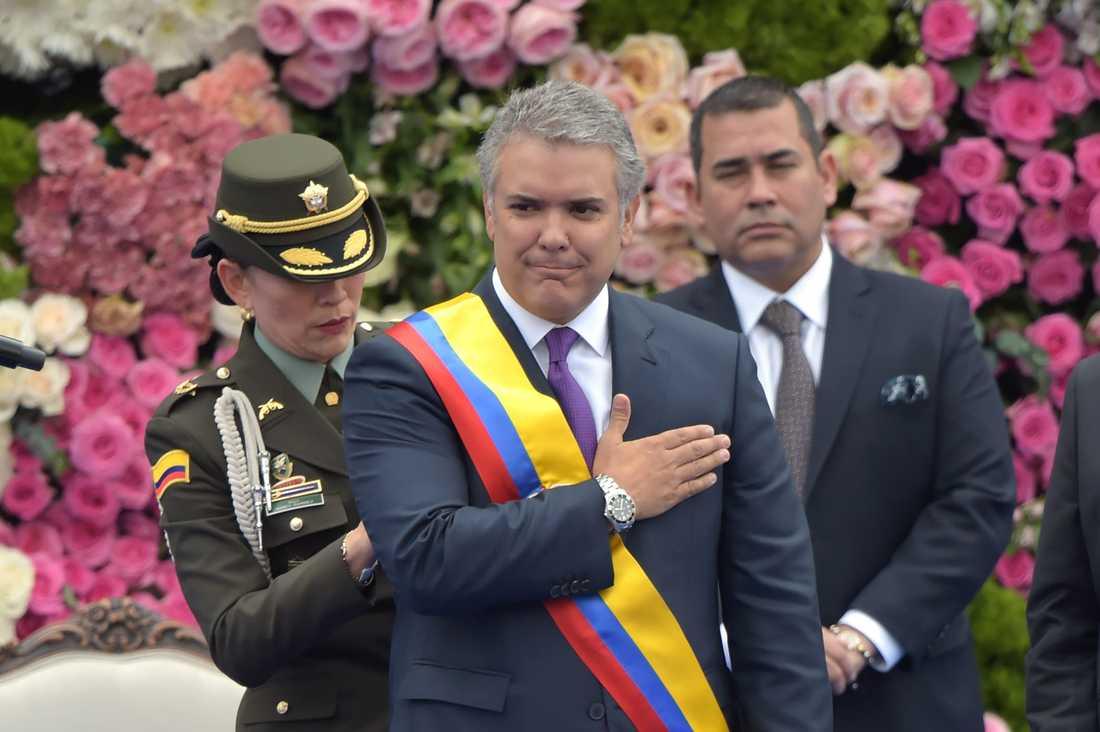 Iván Duque svors in som president i tisdags.