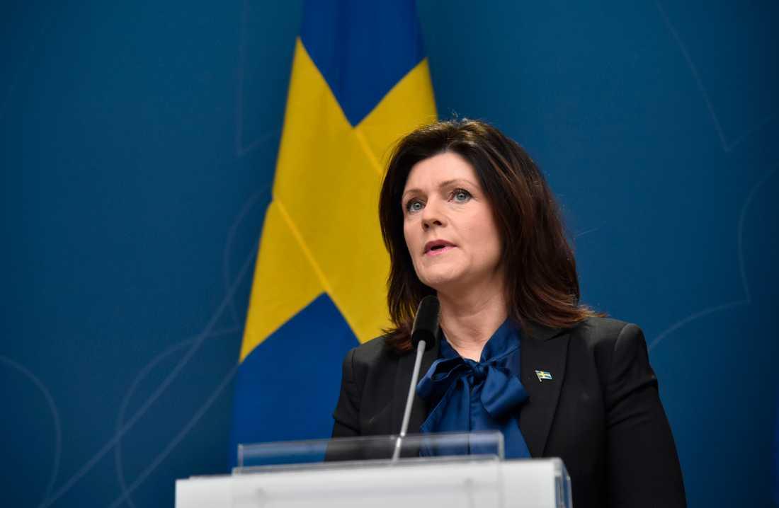 Arbetsmarknadsminister Eva Nordmark.