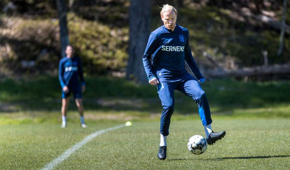Alexander Farnerud på Göteborgs träning.