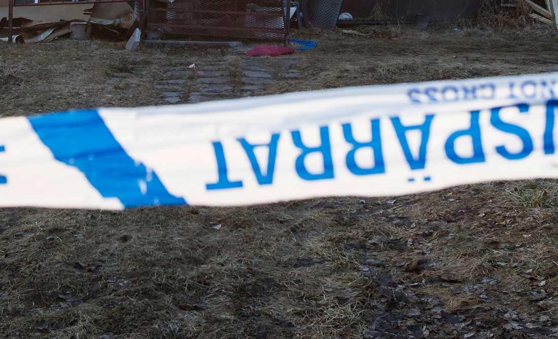 Huset där en kropp har hittats.