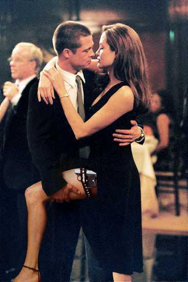 """Pitt och Jolie i """"Mr & Mrs Smith""""."""