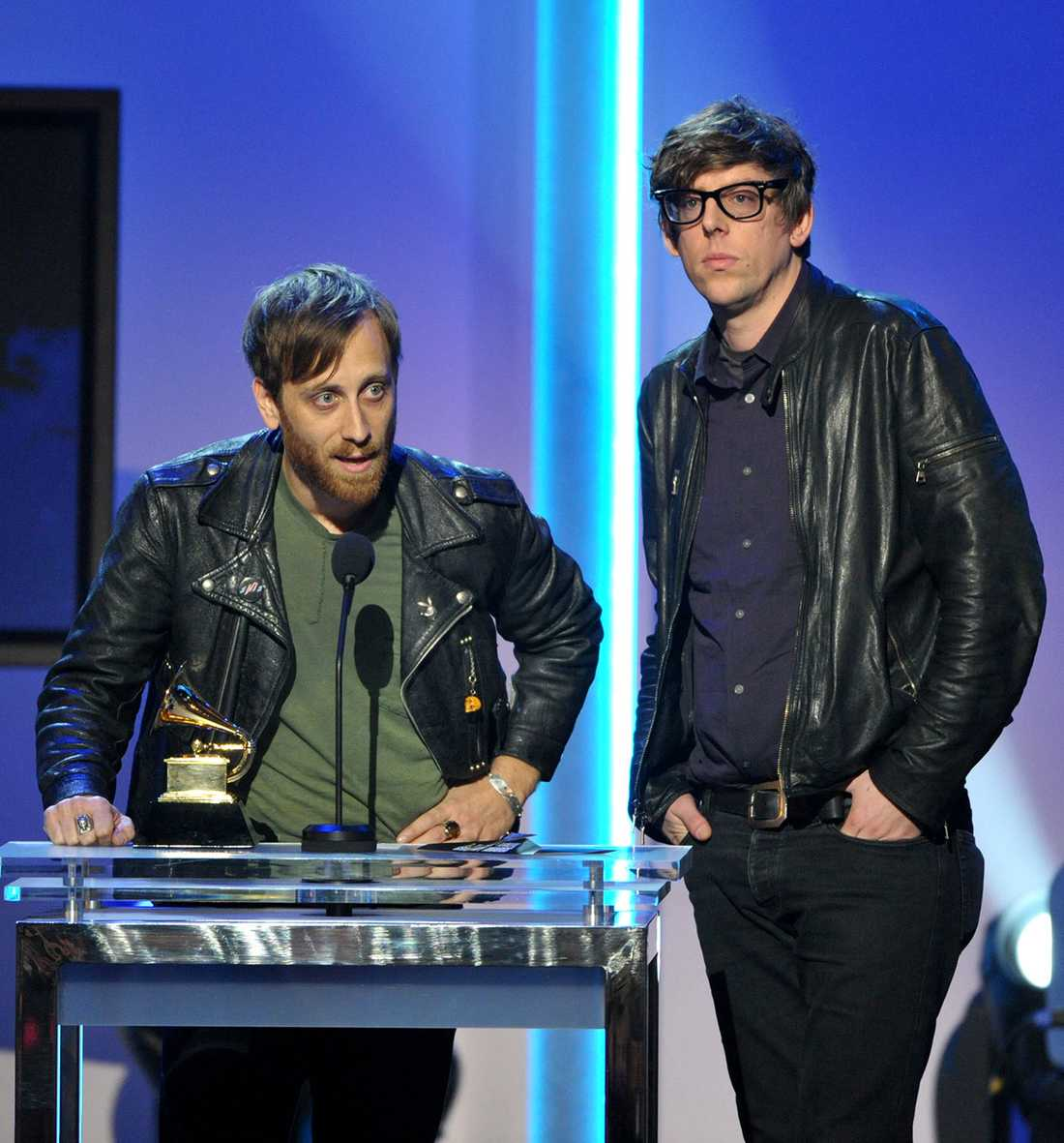 Dan Auerbach och Patrick Carney i The Black Keys på Grammygalan i början av februari 2013.