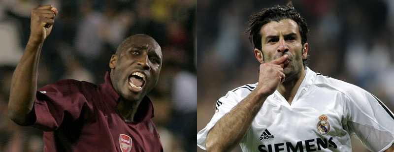 Svikare? Sol Campbell och Luis Figo är med på Daily Mails lista över fotbollens största förrädare.