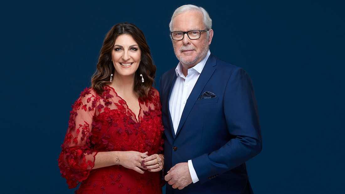 Måndagskvällens cancergala leder  Bengt Magnusson ihop med Soraya Lavasani.