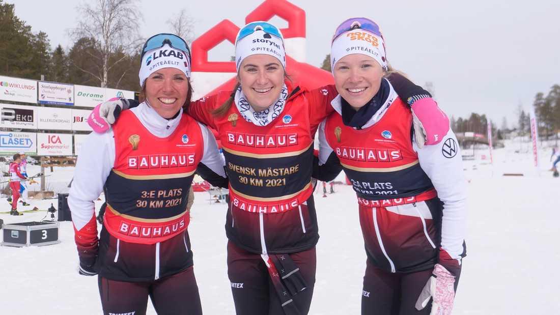 Ebba Andersson krossade allt motstånd när hon tog SM-guld på tremilen.
