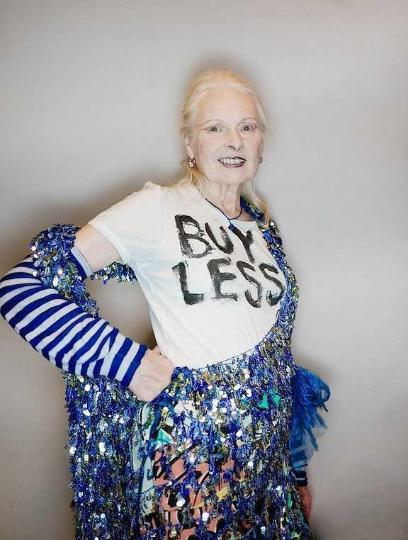 Den brittiska miljörörelsen har ifrågasatt allvaret i Vivienne Westwoods miljöaktivism, men hon låter sig inte stoppas. Pressbild.
