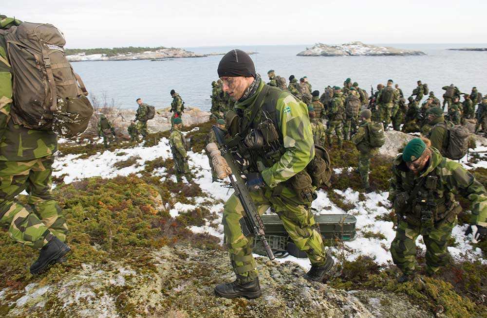 Soldater ur 203:e Amfibieskyttekompaniet