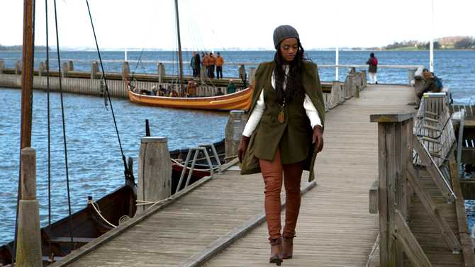 Det hanns med lite klassiska vikingalekar under besöket i Skandinavien.