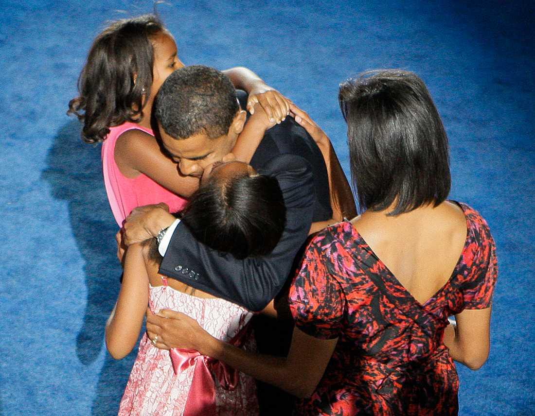 En måltavla Hela familjen Obama behöver livvaktsskydd.