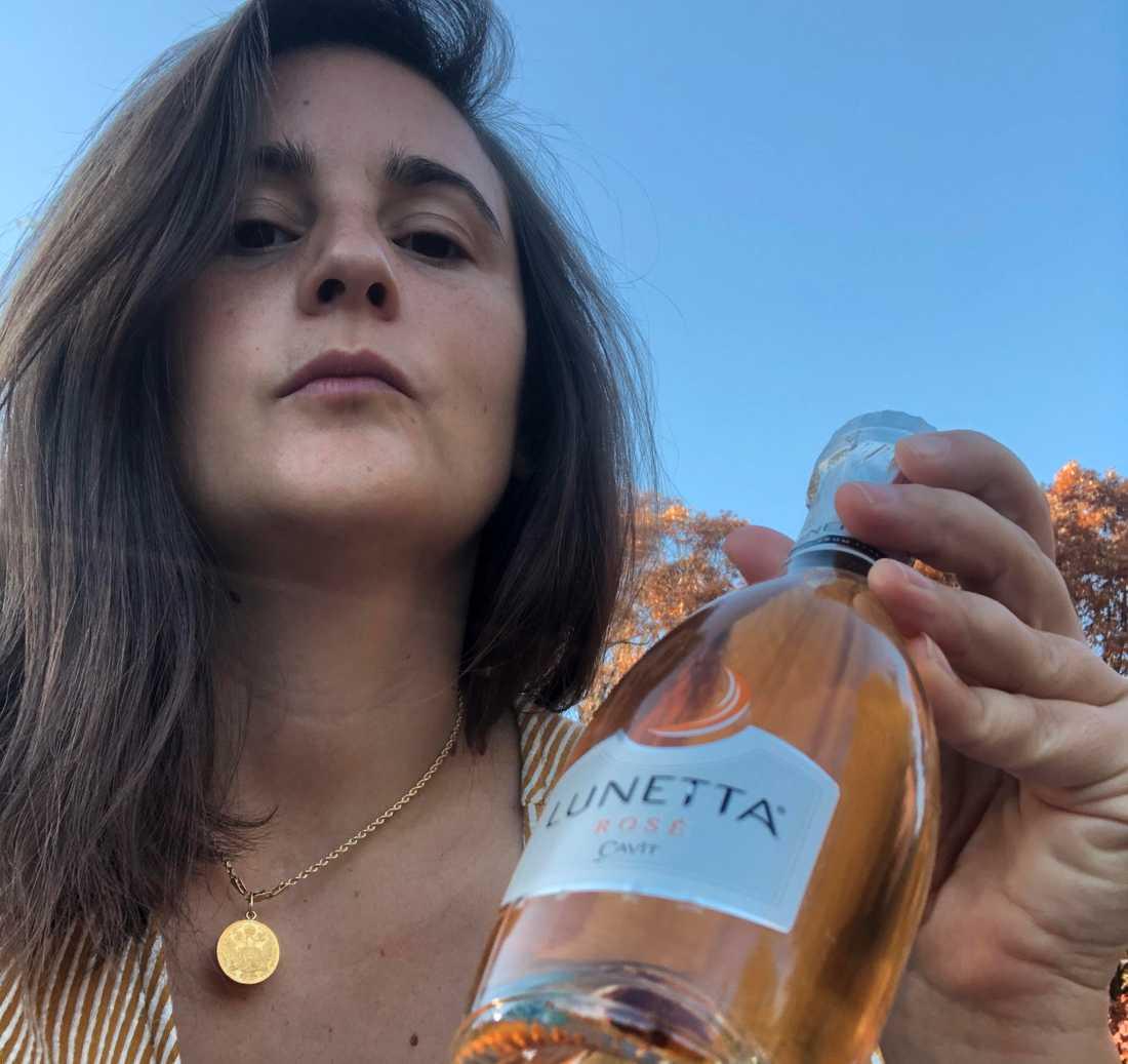 Sonya Kovacic firade med skumpa.