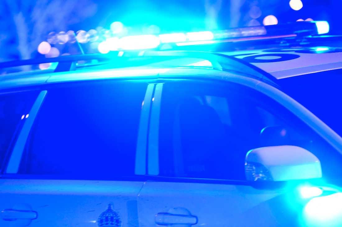 Polisen är på plats i Hässleholm, där en misstänkt explosion ägt rum. Arkivbild.