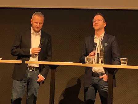 Svensk Travsports biträdande sportchef Per Wetterholm och Solvallas sportchef Anders Malmrot.
