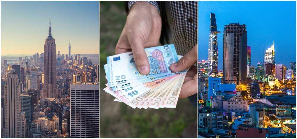 New York (t v) är världens dyraste semesterstad – Ho Chi Minh City den billigaste.