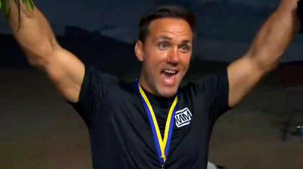 """Martin Lidbergs segerjubel i """"Mästarnas mästare"""" 2017."""