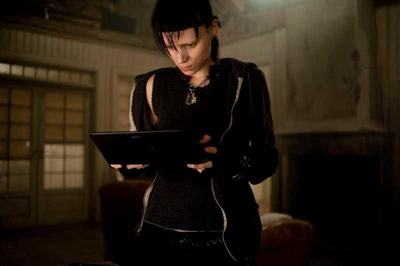 "Rooney Mara gjorde rollen som Lisbeth Salander i ""The girl with the dragon tattoo"". Medproducent var Yellow bird."