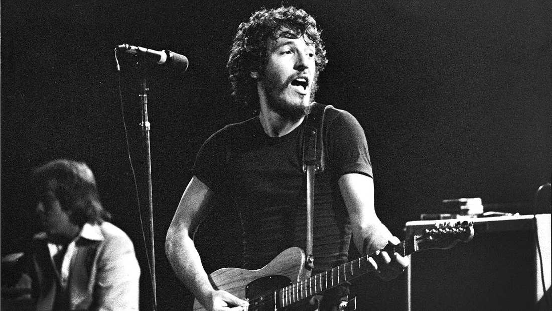 Bruce Springsteen på Konserthuset i Stockholm 1975.