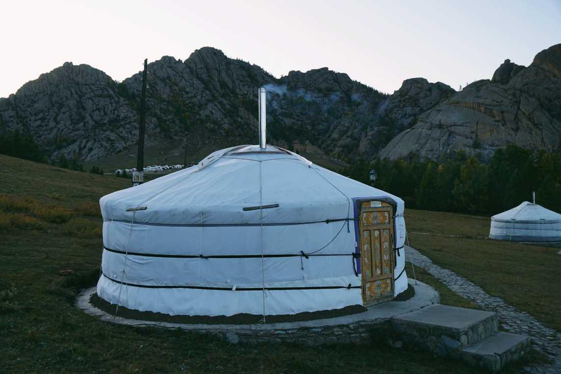 Sandy bodde i en jurta I Mongoliet, ett nomadtält som används av personer som lever med sina boskap.