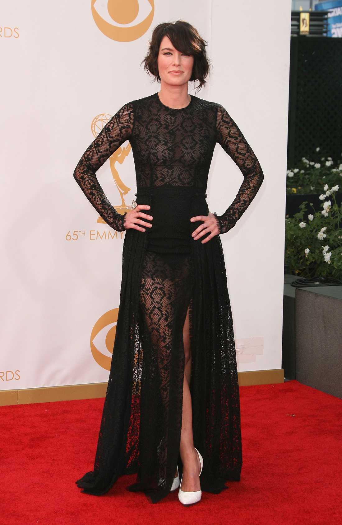 Lena Headey Alessandra Rich stod bakom denna vackra skapelse på Lena Headey.