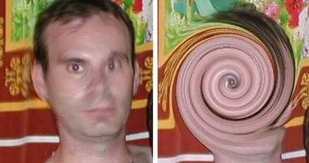 Avslöjad Mannen hade maskerat sitt ansikte i ett dataprogram. Men Interpols tekniker lyckades återställa bilden.