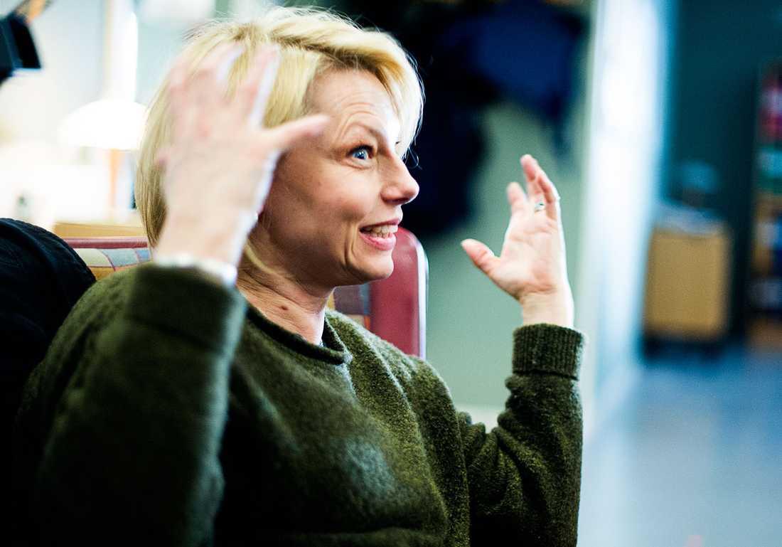 Helena Bergström lockades av att tv-serien även är ett relationsdrama.
