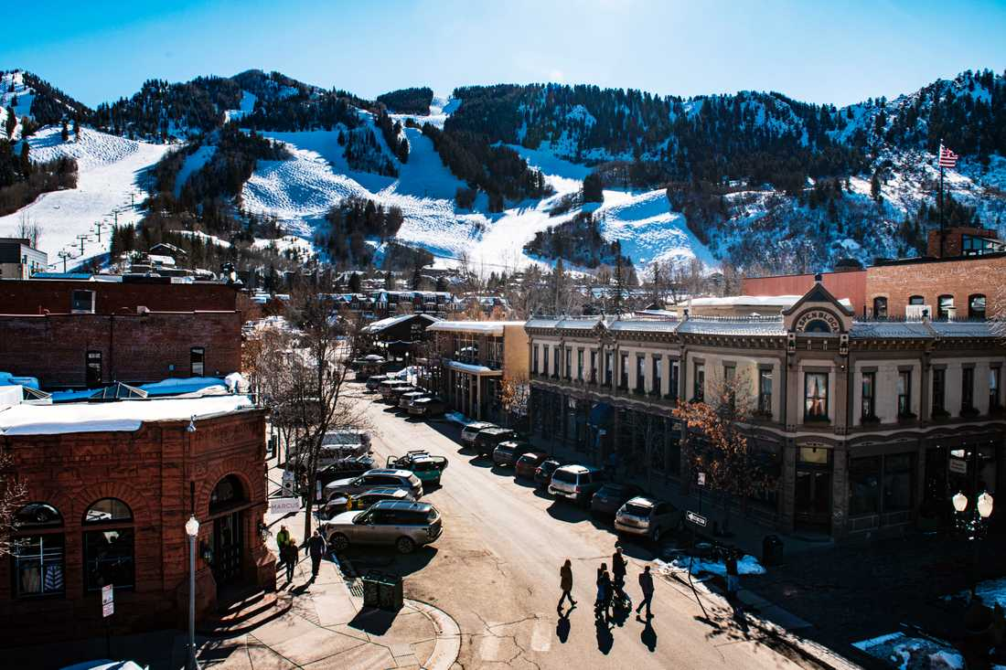Aspen i Colorado, USA. Arkivbild.