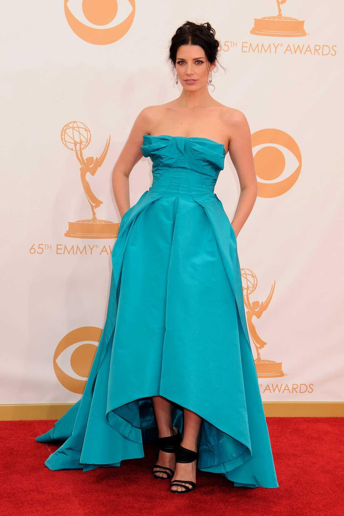 Jessica Pare En galafavorit är ofta Oscar de la Renta, här på Jessica Pare.