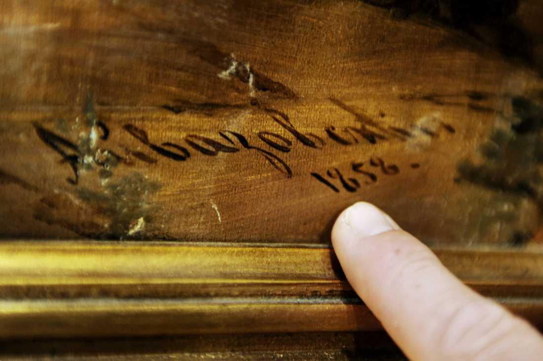 """DOLT FYND Den äldre mannens """"skräptavla"""" visade sig vid närmare granskning vara Ivan Aivazovskys """"Slaget vid Bomarsund""""."""