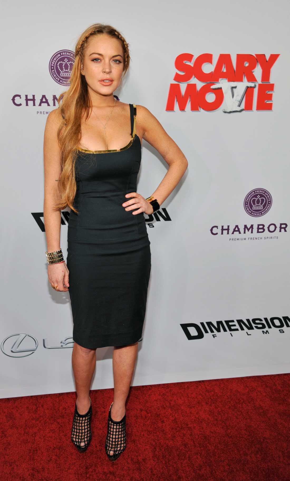 """Lindsay Lohan Även hon på filmpremiären av """"Scary Movie V""""."""