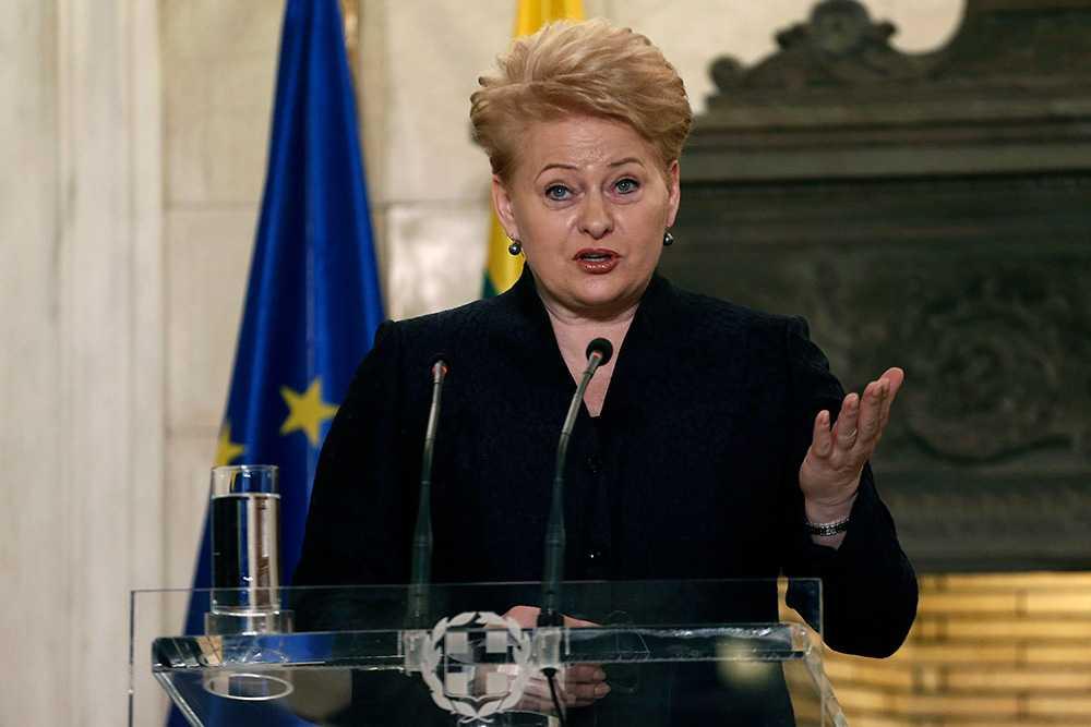 Litauens president Dalia Grybauskaité.