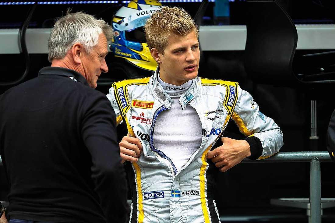 DRÖMLÄGE  Markus Ericsson och rådgivaren Eje Elgh. Snart kan F1-drömmen vara sann.