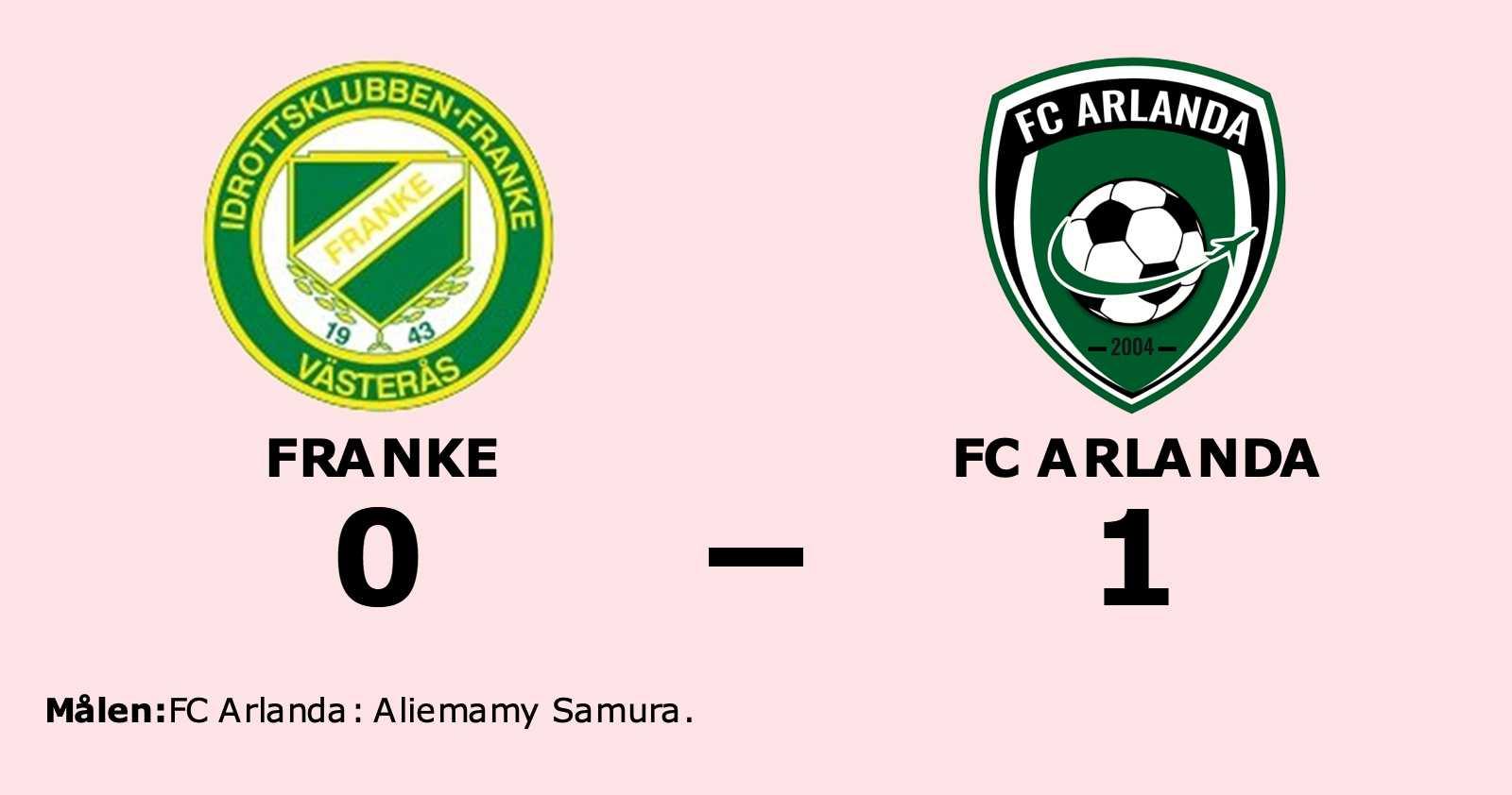 Aliemamy Samura målskytt när FC Arlanda sänkte Franke