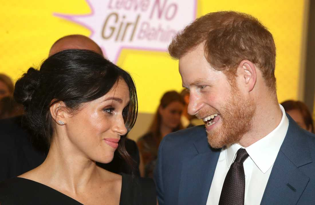 Meghan Markle och prins Harry i London 2018.