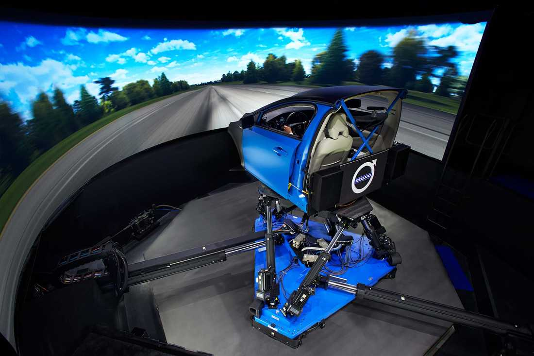 Här är Volvos simulator där den kommande S90 är testad i.