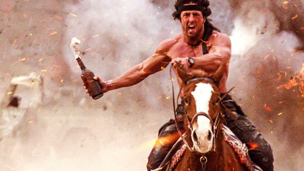 """""""Rambo III"""" (1988)."""