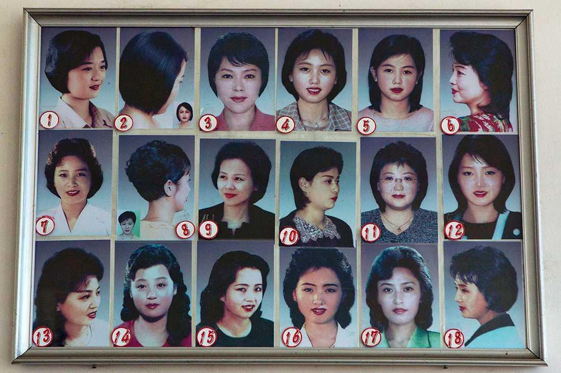 Och här är de 18 frisyrer som kvinnor tillåts ha.