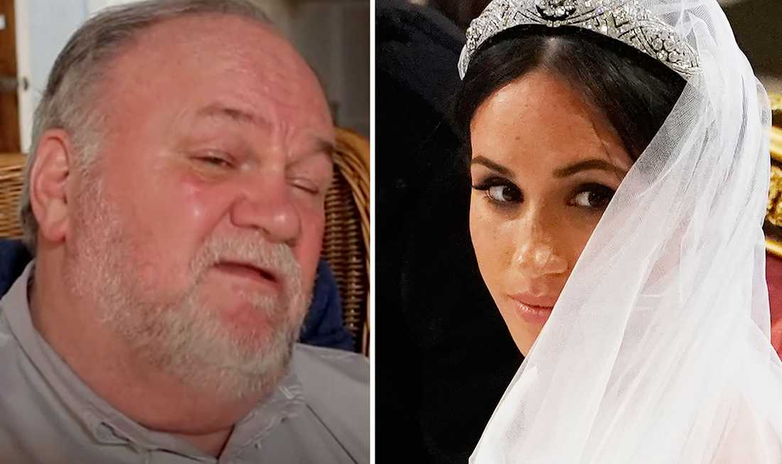Thomas Markle skäms över sin dotter Meghan Markle.
