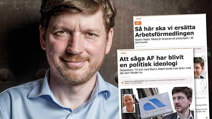 Bara en procent av svenska folket har förtroende för Arbetsförmedlingen. Det är en väldigt tydlig signal till oss politiker, skriver Martin Ådahl.