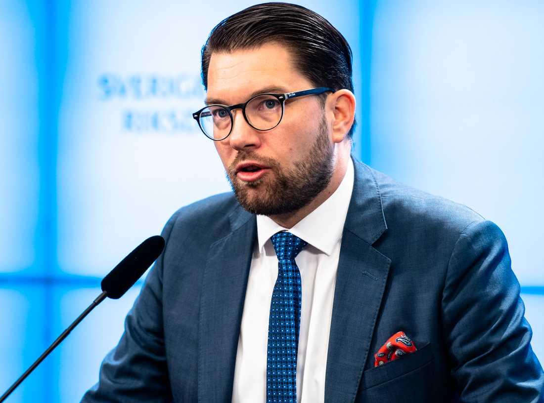 SD:s partiledare Jimmie Åkesson.