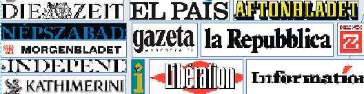 Texten publiceras samtidigt i 13 ledande europeiska tidningar.