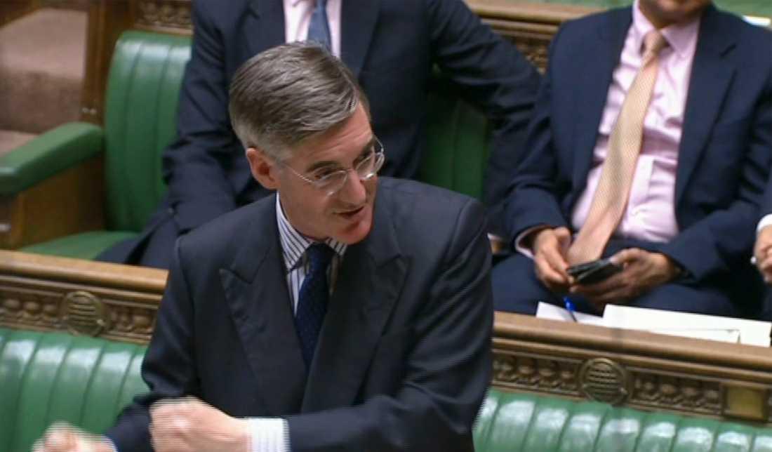 Jacob Rees-Mogg, konservativ majoritetsledare i underhuset, har fått kritik för sitt uttalande om branden i Grenfell Tower. Arkivbild.